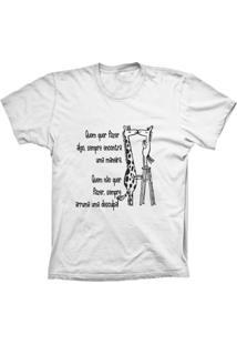 Camiseta Baby Look Lu Geek Girafa Branco