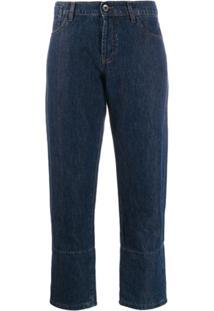Marni Calça Jeans Listrada - Azul