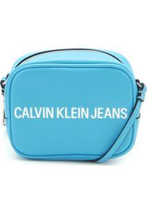 Bolsa Calvin Klein Lettering Azul