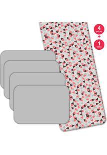 Jogo Americano Love Decor Com Caminho De Mesa Wevans Mult Triangulos Kit Com 4 Pçs 1 Trilho