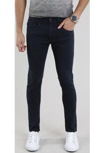 Calça De Sarja Masculina Skinny Azul Marinho