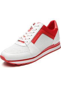 Tênis Michael Kors Billie Trainer Branco/Vermelho