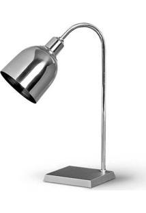 Luminária De Mesa Em Alumínio 37Cm Prata 784.18 Trevisan