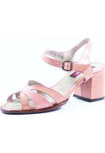 Sandália J. Gean Retrô Vintage Rosê
