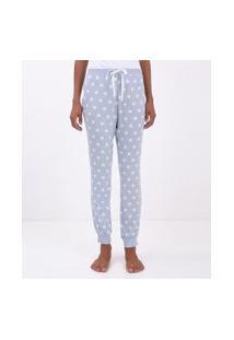 Calça De Pijama Estampa Poá | Lov | Azul Claro | P