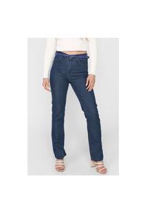 Calça Jeans Cantão Reta Lisa Azul