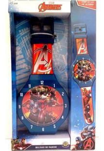 Relógio De Parede Vingadores Dtc - Vermelha