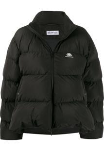 Balenciaga C-Shape Puffer Jacket - Preto