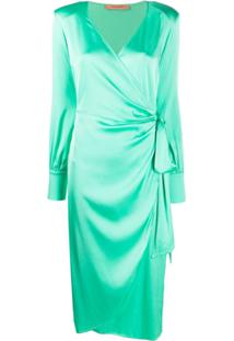 Andamane Carly Wrap Midi Dress - Verde