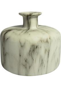 Vaso De Cerã¢Mica Marmorizado 15,5Cm X 15,5Cm X 13,5Cm - Incolor - Dafiti
