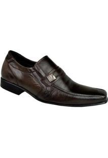Sapato Social Couro Cazzac Elegant Masculino - Masculino-Marrom