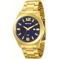 33db1cfe41c Relógio Seculus Long Life Masculino - Masculino-Dourado