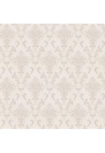 Papel De Parede Arabescos- Bege Claro & Cinza- 100X5Shark Metais