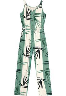 Macacão Feminino Creponada Verde