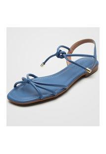 Sandália Feminino Beira Rio 8328.450 Azul Multicolorido
