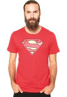 Camiseta Fashion Comics Super-Man Vermelha