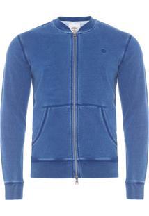 Jaqueta Masculina Moletom Vintage- Azul