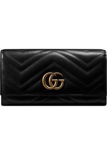 Gucci Carteira Continental 'Gg Marmont' - Preto