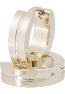 Brinco Aço 316L Gold Ipg Exclusivo Convex Convex Jóias - Feminino-Dourado