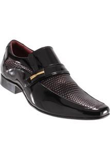 Sapato Social Gofer Masculino Fivela Couro Verniz Legítimo - Masculino