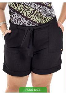 Shorts Com Amarração Preto