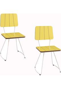 Kit 2 Cadeiras Gran Belo Luxemburgo Amarelo