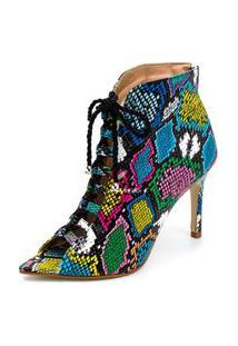 Sandália Bota Ankle Boot Salto Alto Feminina Confortável