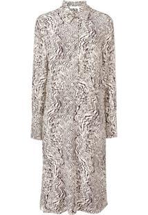 Chloé Vestido De Seda Estampado - Neutro