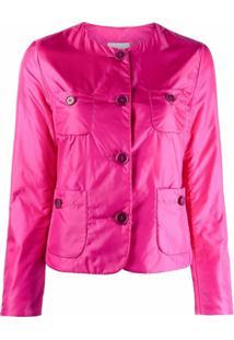 Aspesi Collarless Patch-Pocket Jacket - Rosa