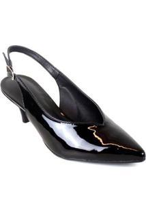 Scarpin Chanel Verniz Emporionaka Feminino - Feminino-Preto