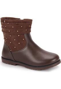Ankle Boots Infantil Pampili - 23 Ao 30 - Cafe