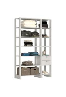 Estante Closet Nova Mobile Ey103 Yes 2 Gavetas E 11 Nichos