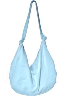 Bolsa De Ombro Heide Ribeiro Moletom Saco Liso Azul Claro - Azul - Feminino - Dafiti