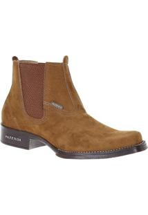 Bota Couro Fazenda Boots Castor 19796 Masculina - Masculino-Marrom
