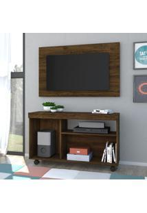 Rack Com Painel Para Tv Bruno 701024 Savana - Madetec