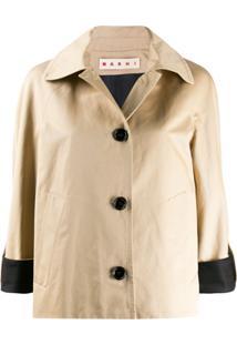 Marni Contrast Cuffs Jacket - Neutro