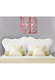 Espelho Decorativo In Love Rose Gold