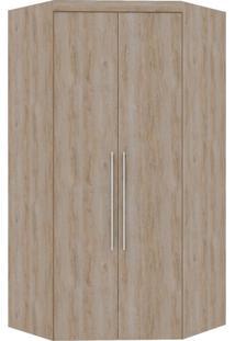 Guarda-Roupa Canto Closet Virtual 2 Portas S/Espelho Com Gavetas Cedro Robel