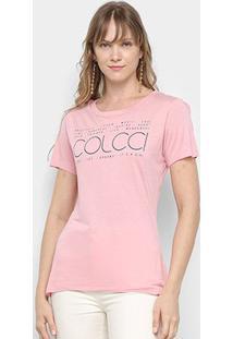 Camiseta Colcci It'S A Girl Feminina - Feminino-Rosa Claro