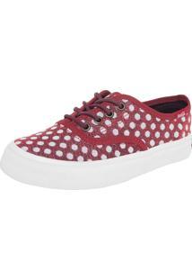 Tênis Cola-Cola Shoes Kick Poa Vermelho/Branco