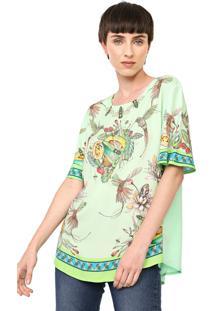 Camiseta Colcci Estampada Verde - Kanui
