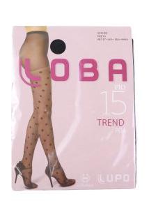 Meia Calça Feminina Lupo Loba Fio 15 Trend Poá