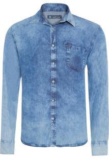 Camisa Masculina Lauren - Azul