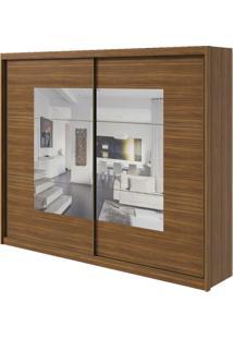 Guarda-Roupa Toronto Plus Com Espelho - 2 Portas - 100% Mdf - Rovere Naturale Ou Rovere Naturale Com Offwhite