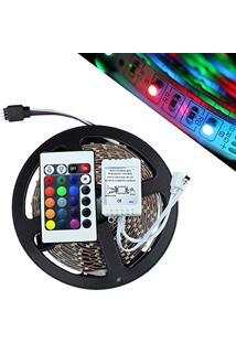Fita De Led 5 Metros Natal Luz Colorido Rgb Com Controle Wireless 127V (Abm / Ja80513)
