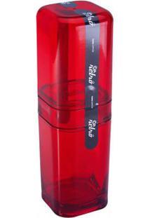 Porta Escova Com Tampa Splash Vermelho 20453/0111 - Coza - Coza