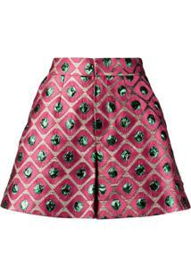 La Doublej Short Slim Geométrico - Rosa