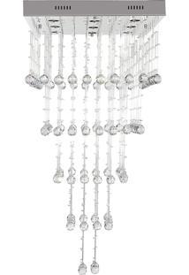 Lustre Pendente Cascata Diamante 4001/600X600X1200 Quadrado Bivolt