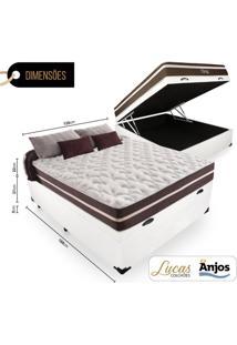 Cama Box Com Ba㺠Viãºva + Colchã£O De Molas - Anjos - Classic Superlastic 128X188X64Cm Branco - Branco - Dafiti