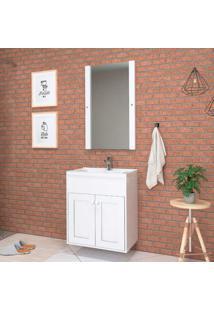 Espelheira De Sobrepor Turin 85,5X60Cm Branca Darabras